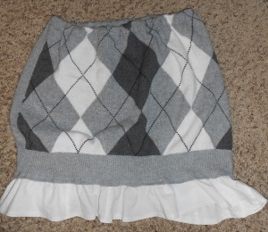 Finished Argyle Skirt