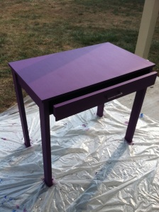 Office Furniture - Purple desk!