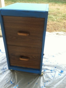 File Cabinet after one coat