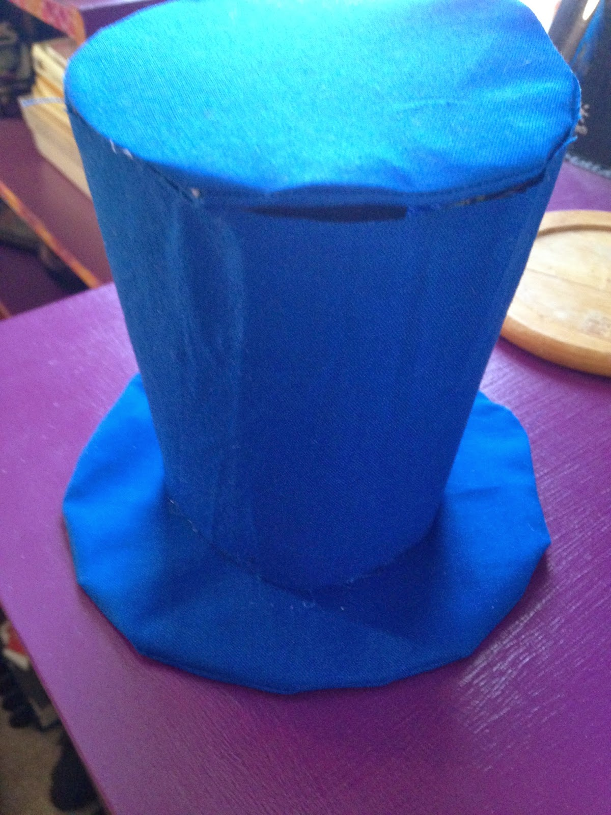 Assembled TARDIS top hat
