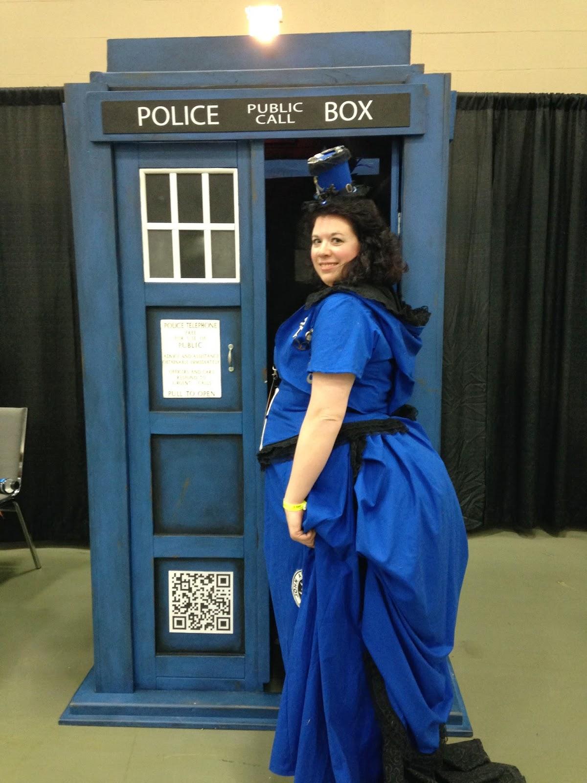 A TARDIS walking into a TARDIS!