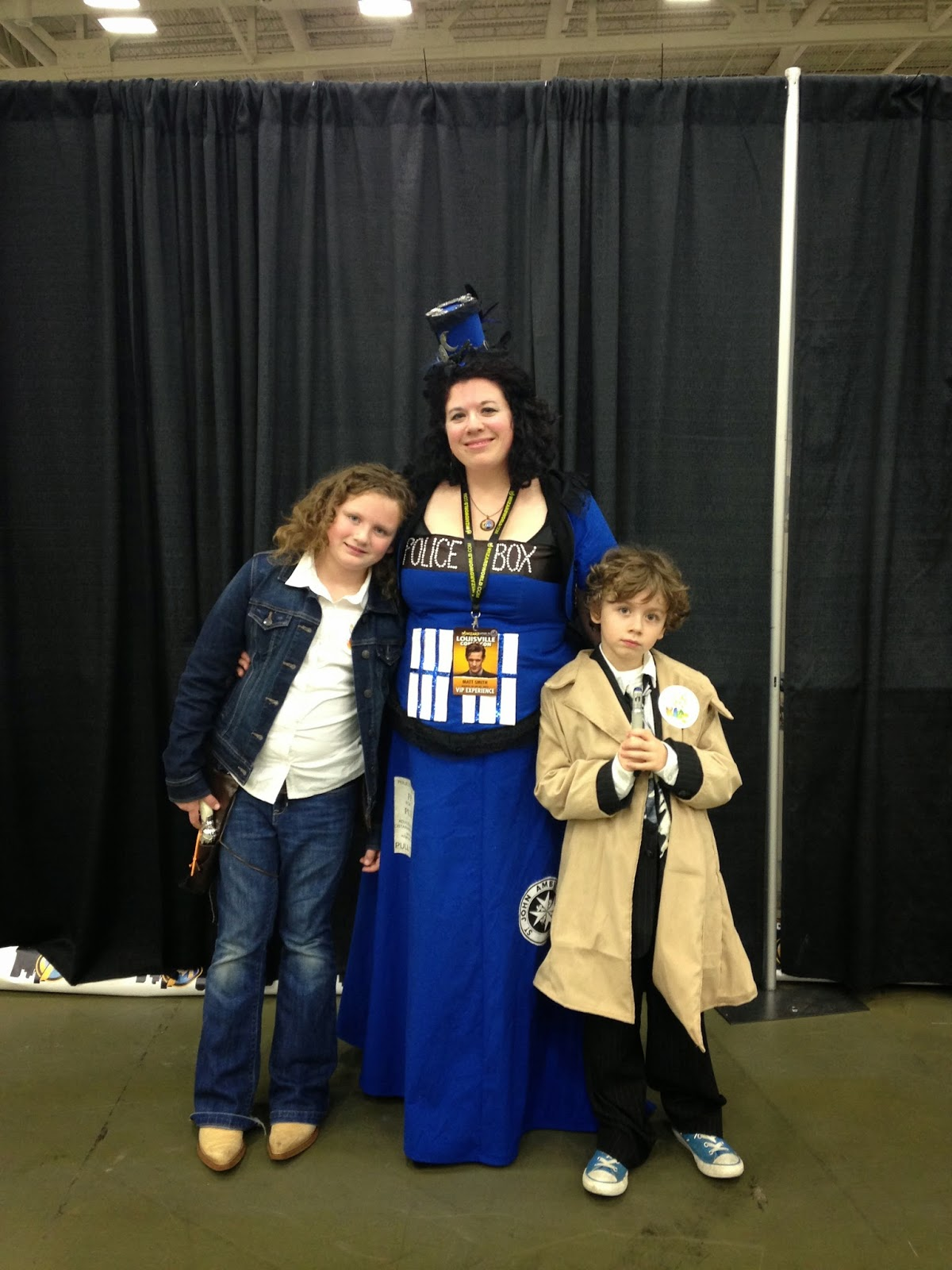A TARDIS with River Song and the 10th Doctor